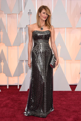 Best Supporting Actress nominee Laura Dern at the Oscars(R) Red Carpet wearing a Bulgari turquoise ring in support of American Lung Association's LUNG FORCE, an initiative aimed at raising awareness of lung cancer, the #1 cancer killer of women. Turquoise is the signature color of LUNG FORCE.