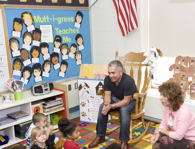 "Renowned dog behavior specialist and animal activist Cesar Millan urges schools to raise awareness about shelter pets, also known as Mutt-i-grees(R), with the second annual Mutt-i-grees ""America Adopts"" PSA Contest. The winning school will receive a $10,000 grant, a visit to their school by Cesar Millan, and a trip for four to NYC. The contest is open to schools that teach children in any, or all, of the following Grades: Pre-K, Kindergarten, and Grades 1-8. For more information on how to enter please visit animalleague.org.  (PRNewsFoto/North Shore Animal League America)"