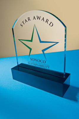 Sonoco Sustainability Star Award.  (PRNewsFoto/Sonoco)