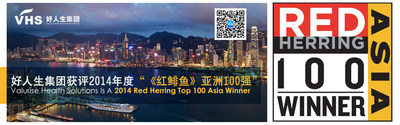 Valurise Health Solutions was awarded the 2014 Red Herring Top 100 Asia, being the only healthcare service enterprise in Asia receiving the very award.