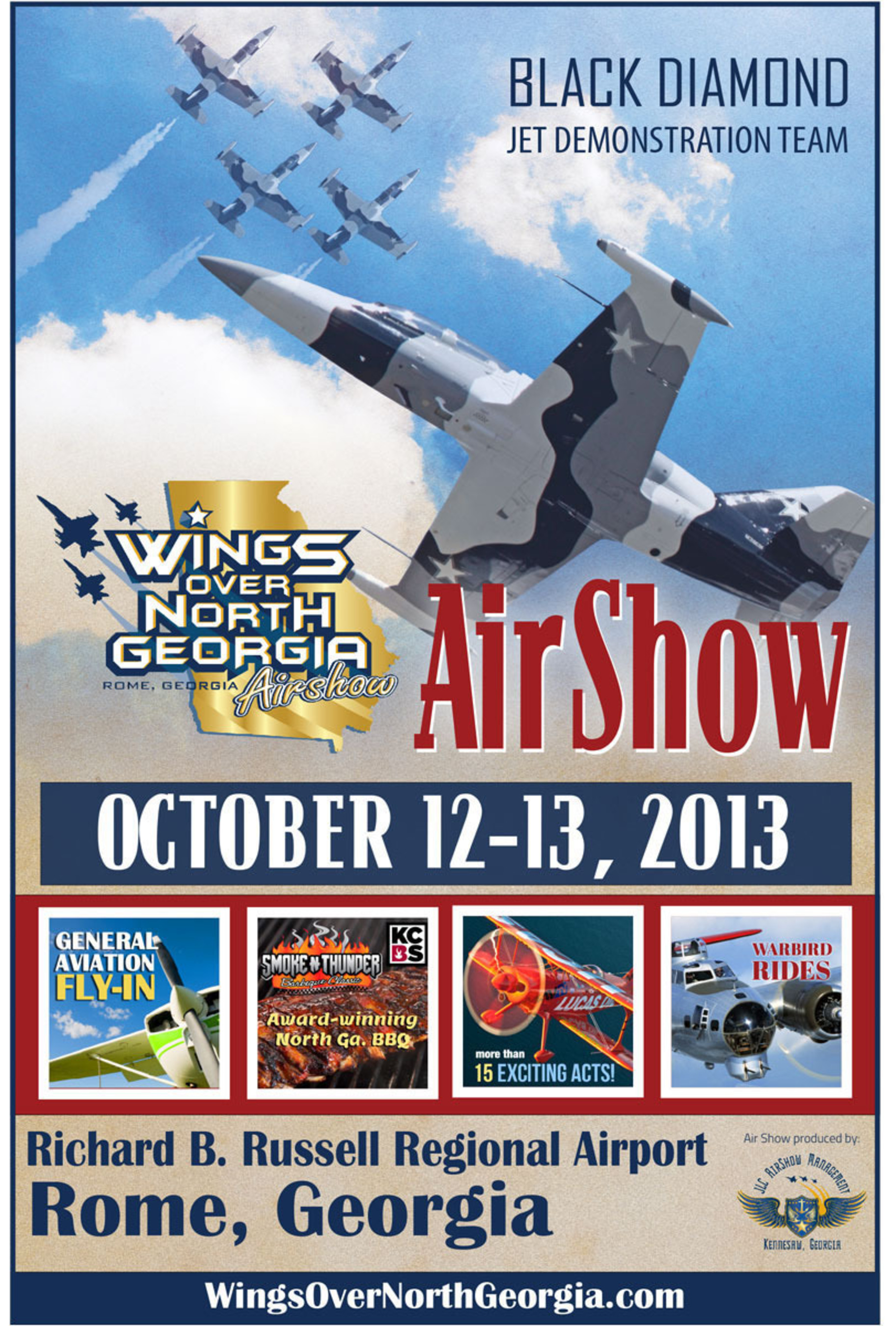 Wings Over North Georgia poster.  (PRNewsFoto/JLC AirShow Management)