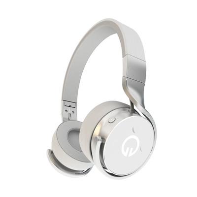 Muzik headphones, the world's first smart wireless headphone.  (PRNewsFoto/Muzik)