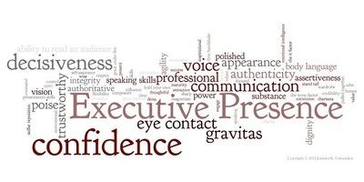 Executive Presence Word Cloud (PRNewsFoto/Jennifer Crittenden)