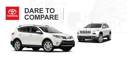 While the 2014 Jeep Cherokee offers plenty, the 2014 Toyota RAV4 does more, for less, making it the better investment when looking for a small crossover SUV. (PRNewsFoto/Toyota of River Oaks)