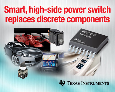 TI's smart power switch replaces discrete components in powertrain and automotive body electronics