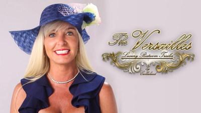 "Kimberly Howard inside ""The Versailles"" Luxury Restroom Trailer"