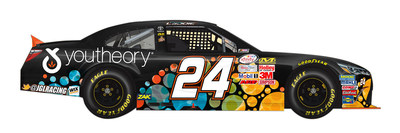 youtheory sponsors driver Corey LaJoie and the #24 youtheory Toyota Camry in the NASCAR Xfinity series