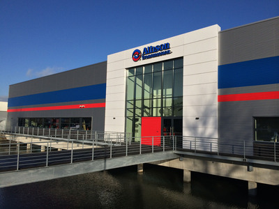 Allison Transmission opened a new multi-purpose facility in the Netherlands this week to better serve its customers across Europe, the Middle East and Africa. Located in Sliedrecht, the 34,000 sq. ft. (3,171 sq. m.) building centralizes the company's parts distribution, product customization and customer training functions for the region.  (PRNewsFoto/Allison Transmission Holdings Inc.)