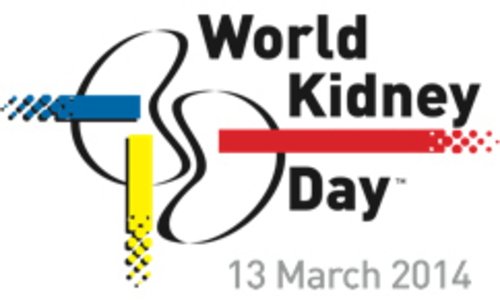 World Kidney Day - logo. (PRNewsFoto/Kibow Biotech, Inc.) (PRNewsFoto/KIBOW BIOTECH, INC.)