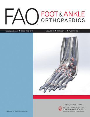 Foot & Ankle Orthopaedics joins the Society's flagship journal Foot & Ankle International. Both are published by SAGE Publishing.