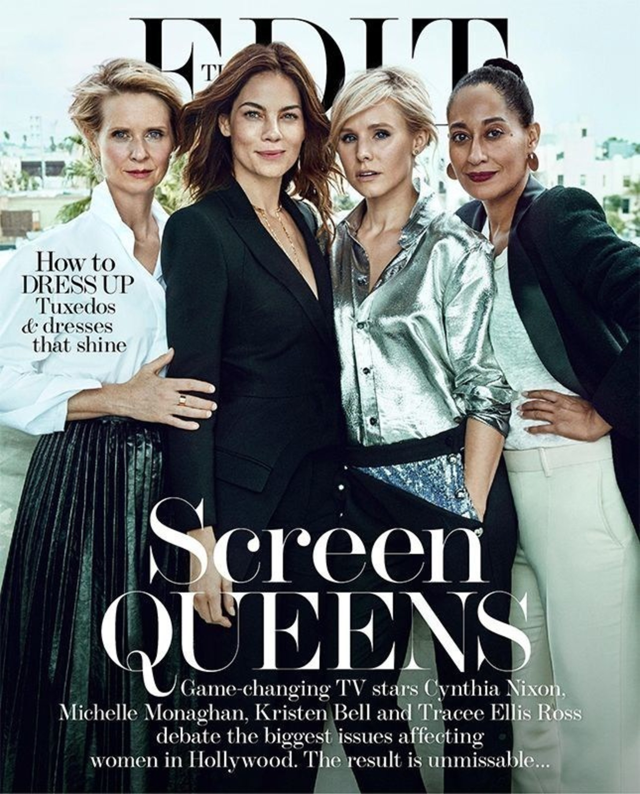 Watch Cynthia Nixon, Michelle Monaghan, Kristen Bell and Tracee Ellis Ross debate Hollywood TV's key issues in NET-A-PORTER's digital magazine, The EDIT.