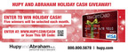 Personal Injury Attorneys at Hupy and Abraham, S.C. Launch Holiday Cash Giveaway.  (PRNewsFoto/Hupy and Abraham, S.C.)