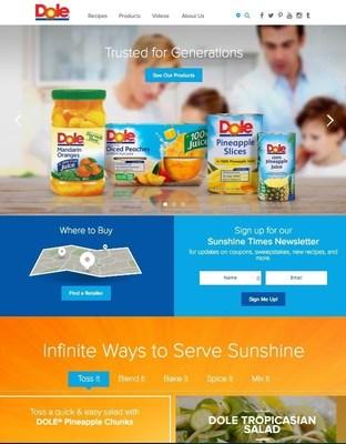 Dole Packaged Foods, LLC new U.S website, dolesunshine.com