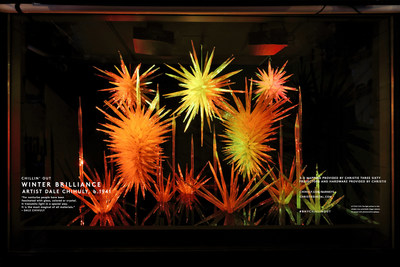 Barneys New York CHILLIN' OUT Holiday 2015 Window: Winter Brilliance by Dale Chihuly