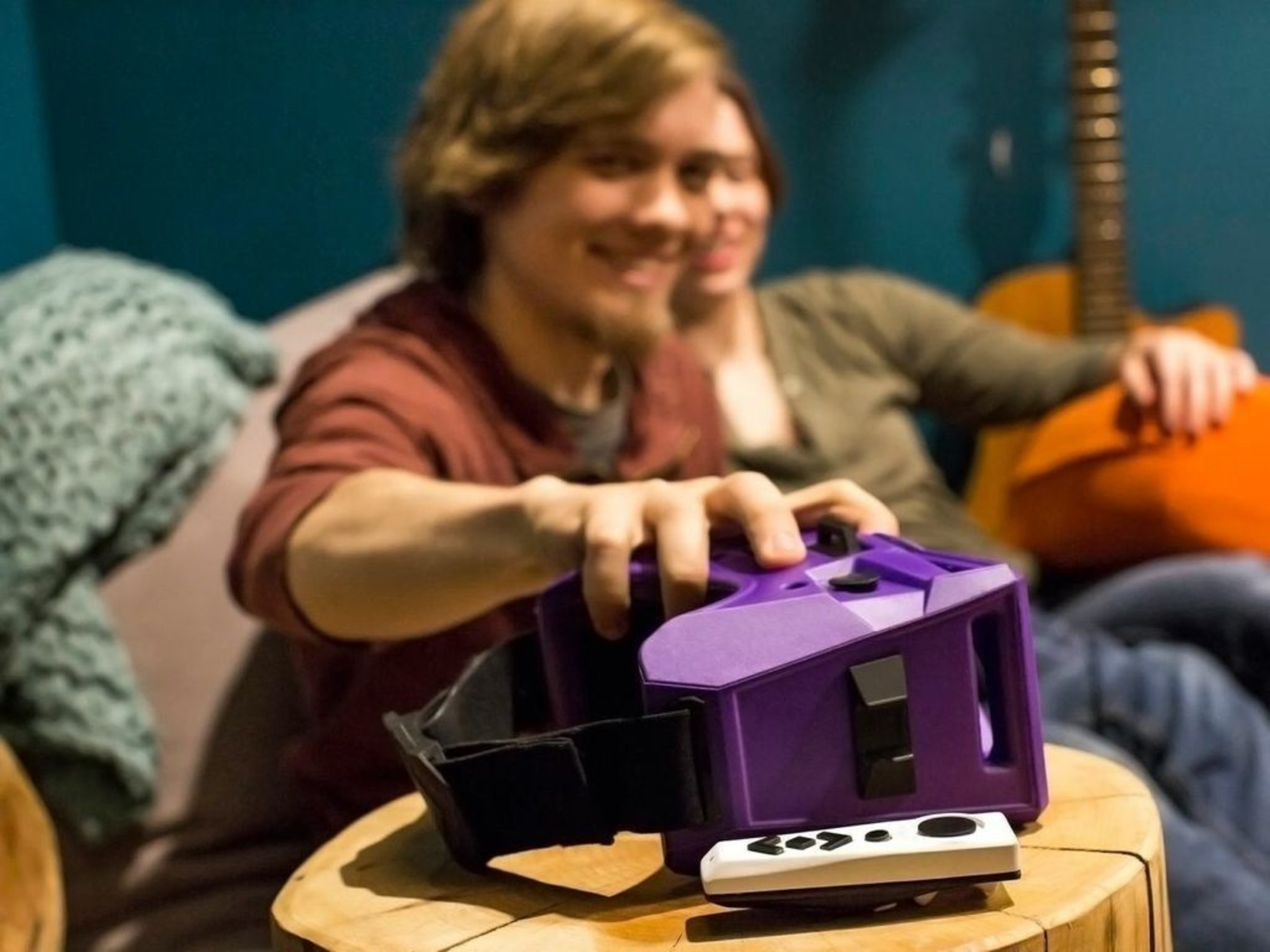 MergeVR virtual reality goggles and motion controller launching fall 2015. (instagram.com/Merge.VR)