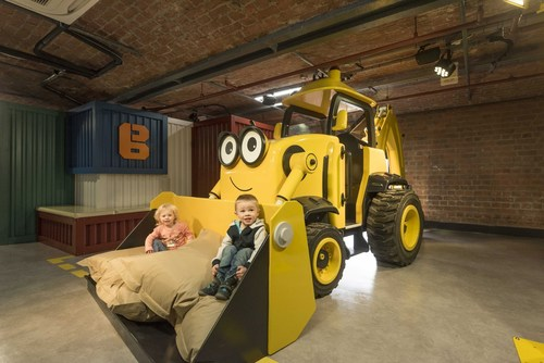 Bob The Builder is surely one of the most beloved characters of the Mattel brands. He's got a brand new themed play area of his own at the Mattel Play Liverpool, Albert Dock, in England. The site is owned and operated by Heritage Great Britain, one of Britain's most outstanding destinations and visitor attractions. (PRNewsFoto/Lappset Group)