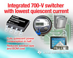 "TI high-voltage switcher delivers energy savings to ""always-on"" smart meters, home automation designs (PRNewsFoto/Texas Instruments)"