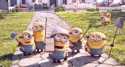 Mower Minions, a never-before-seen in-theater short film starring the Minions, debuts with Illumination Entertainment and Universal Pictures' The Secret Life of Pets, in theaters on July 8, 2016. Credit: Illumination Entertainment and Universal Pictures