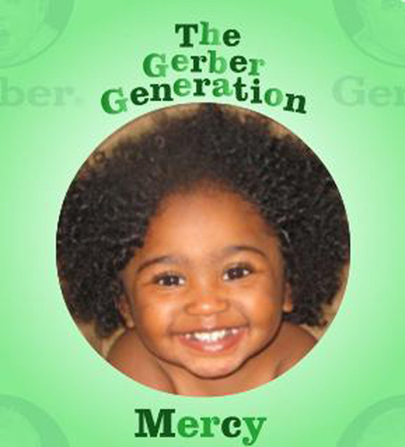 Two-year-old, Mercy Townsend, becomes Gerber's newest ad star.  (PRNewsFoto/Gerber)