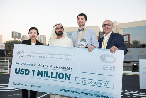UC Berkeley and SuitX team, winner of UAE AI and Robotics Award for Good