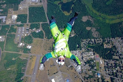 Luke Aikins trains for Stride Gum Presents Heaven Sent, his historic jump from 25,000 feet without a parachute or wing suit, which will air July 30th on FOX.