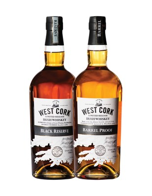 West Cork Distillers announces limited release Barrel-Proof 124 and Black Reserve 86 Irish Whiskeys along with updated packaging of whiskey line in partnership with its U.S. importer, M.S. Walker.