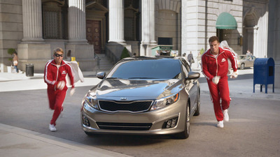 "Griffin and McBrayer form ""The Griffin Force"" to Try to Save the World One Kia Optima at a Time.  (PRNewsFoto/Kia Motors America)"