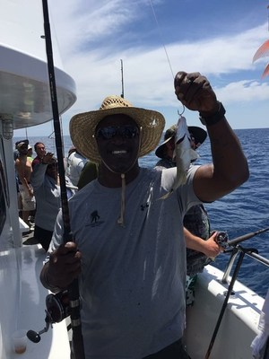 The Orlando Wounded Warrior Project(R) (WWP) Peer Support Group and The Mission Continues Orlando 1st Service Platoon teamed up for a special deep-sea fishing event at Sunrise Marina in Port Canaveral, Florida.