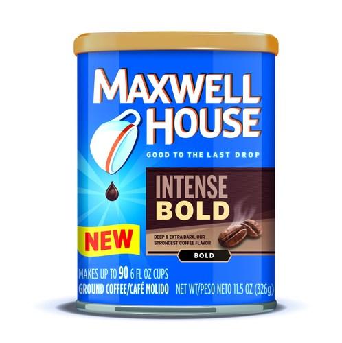 New dark roast Maxwell House blend, Intense Bold. (PRNewsFoto/Maxwell House)