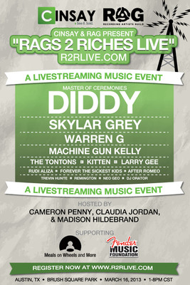 Watch the replay of the R2RLIVE music event next week only at R2RLIVE.com