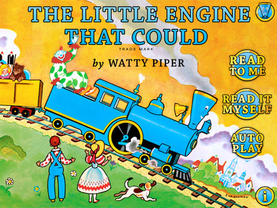 The Little Engine That Could is one of the most celebrated and cherished picture books of all time. And here, in the official Little Engine That Could app from Penguin, you can see the book come to life with dazzling interactivity.  (PRNewsFoto/Penguin Young Readers Group)