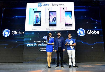 Globe Senior Advisor for Consumer Business Dan Horan announces launch of Disney Mobile with the Philippines as the first country and Globe as the first telco to carry it in Southeast Asia