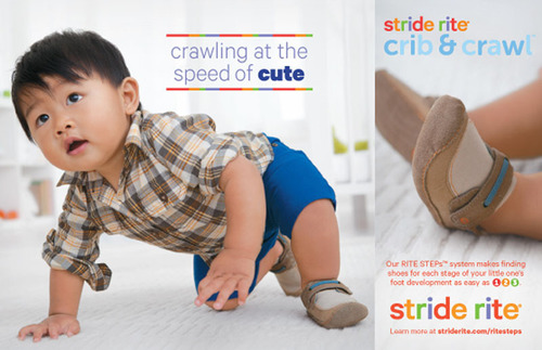 Stride Rite Crawl print advertisement.  (PRNewsFoto/Stride Rite Children's Group)