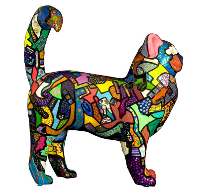 """""""Cat Nippy-Hippy"""" - designed by artist Allison Gregory was signed exclusively for this event by Natalie Maines and Ben Harper. (PRNewsFoto/Paws for a Purrpose) (PRNewsFoto/PAWS FOR A PURRPOSE)"""