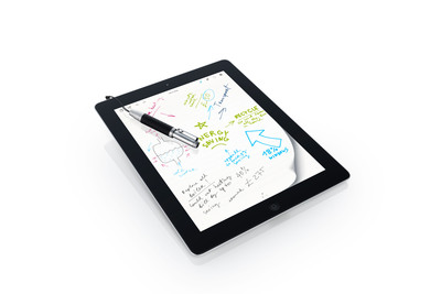 Bamboo Stylus pocket by Wacom lets you jot notes and sketch on a variety of mobile devices. Compact, flexible and expandable, it goes where you go.  (PRNewsFoto/Wacom)