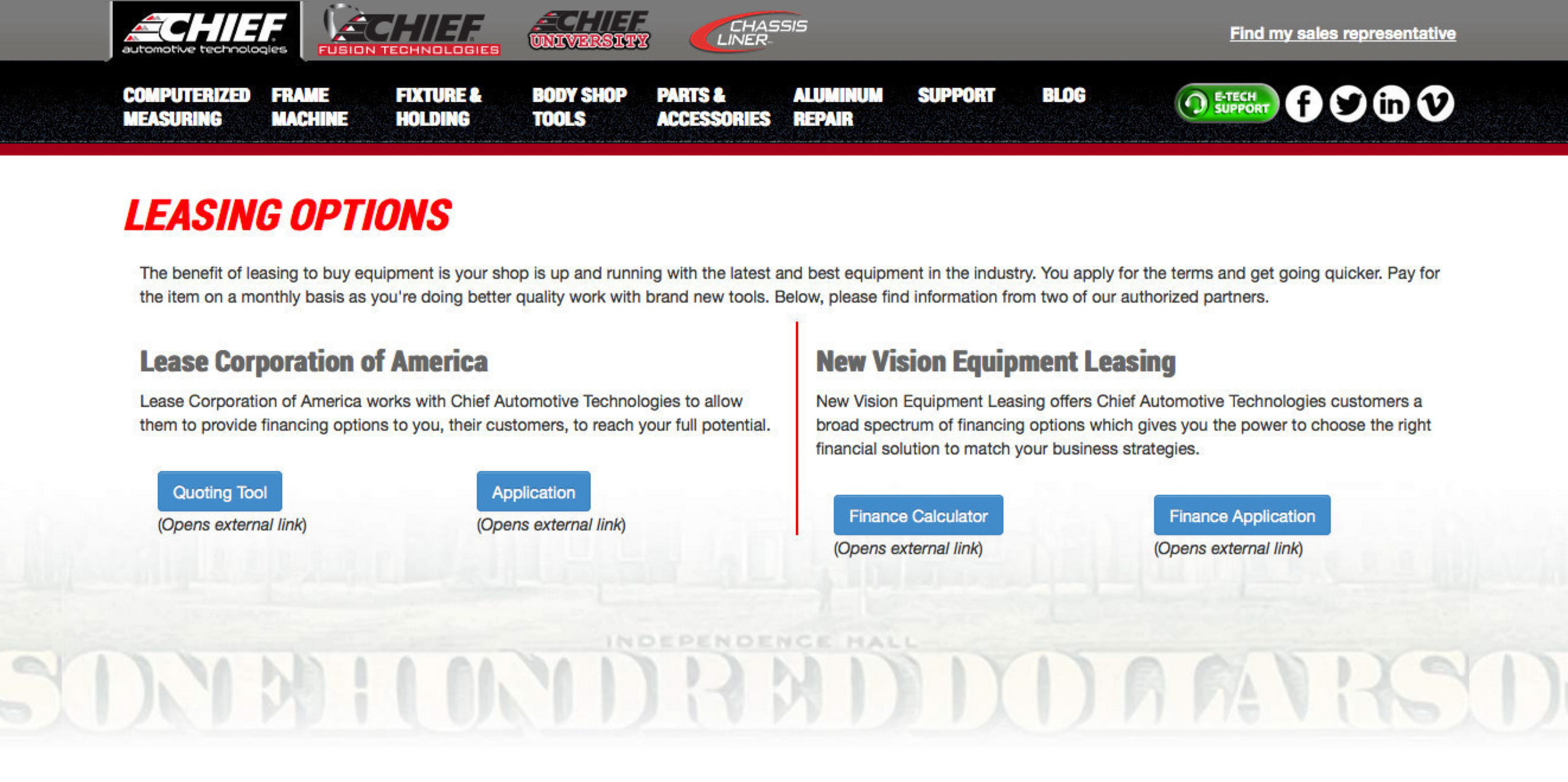 Chief Introduces Online Leasing Tools to Help Customers Cost-Effectively Update Their Shops