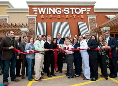 Wingstop Sports Grand Opening Ribbon Cutting.  (PRNewsFoto/Wingstop)