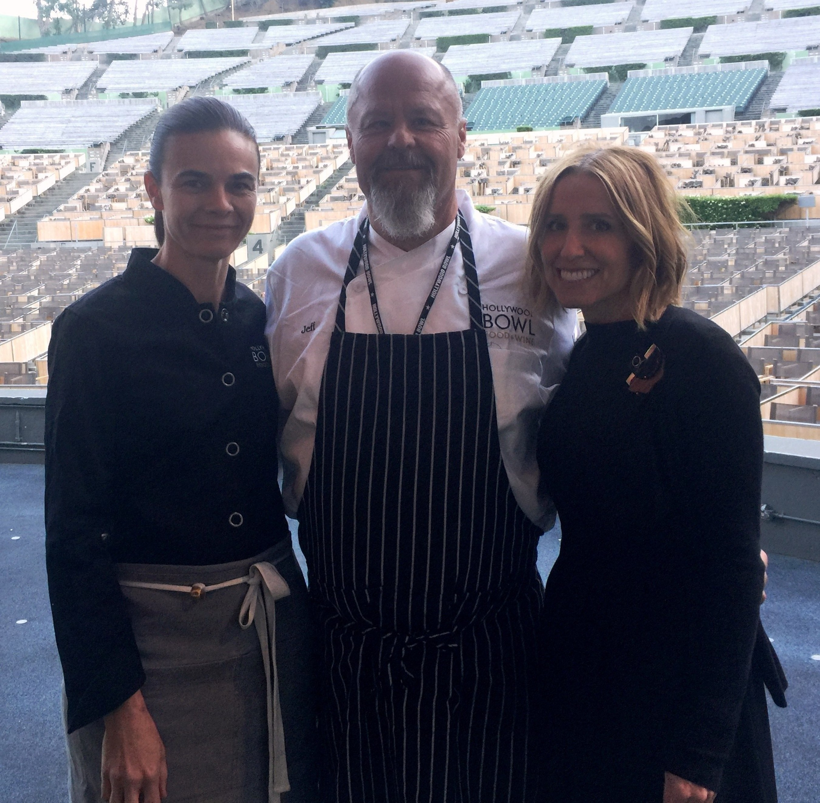 James Beard Award-winning chef Suzanne Goin, Executive Chef Jeff Rogers and Caroline Styne.