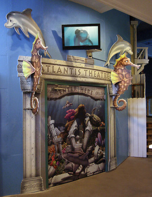 Oldsmar, Florida - Wacky World Studios - The new entrance to the Atlantis Theater at Clearwater Aquarium created and installed by Wacky World Studios.  The aquarium is home to Winter, star of the hit family film Dolphin Tale.  (PRNewsFoto/Wacky World Studios)
