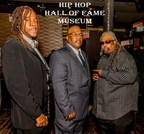 Hip Hop Hall of Fame Awards TV Show Producers Easy AD of the Legendary Cold Crush Brothers, Creator & Museum Chairman JT Thompson, and DJ Lord Yoda X of the Harlem Group Crash Crew (photo by Ming Han)