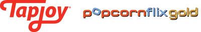 Tapjoy and Popcornflixgold logos.  (PRNewsFoto/Tapjoy, Inc.)