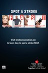Visit strokeassociation.org to learn how to spot a stroke FAST.  (PRNewsFoto/The Ad Council)