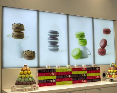 DSA Phototech Light Panel Installation at 'Lette Macarons Store in Fashion Island Shopping Center, Newport Beach, CA. (PRNewsFoto/DSA Phototech) (PRNewsFoto/DSA PHOTOTECH)