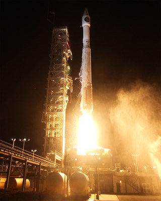 Vandenberg Air Force Base, Calif. (Oct. 8, 2015) - A United Launch Alliance (ULA) Atlas V rocket carrying the NROL-55 mission lifted off from Space Launch Complex 3 at 5:49 a.m. PDT. Photo by United Launch Alliance