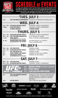UFC 148 Schedule of Events.  (PRNewsFoto/The Ultimate Fighting Championship)