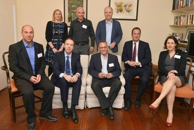 The British Minister Matthew Hancock visiting Israel and meeting cyber technologies experts