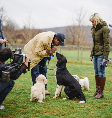 Bryant and Hilary Gumbel being filmed for Jill Rappaport's Best in Shelter at Main Line Animal Rescue. The program airs Saturday February 21, 2015 (7:00 pm EST).