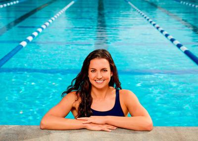 U.S. Olympic gold medalist Rebecca Soni