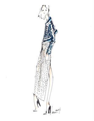Brandon Sun crystal sketch for the Autumn/Winter 2014 Swarovski Collective.  (PRNewsFoto/Swarovski)