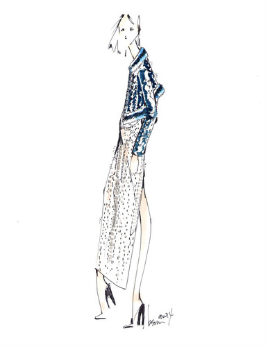 Brandon Sun crystal sketch for the Autumn/Winter 2014 Swarovski Collective. (PRNewsFoto/Swarovski) ...